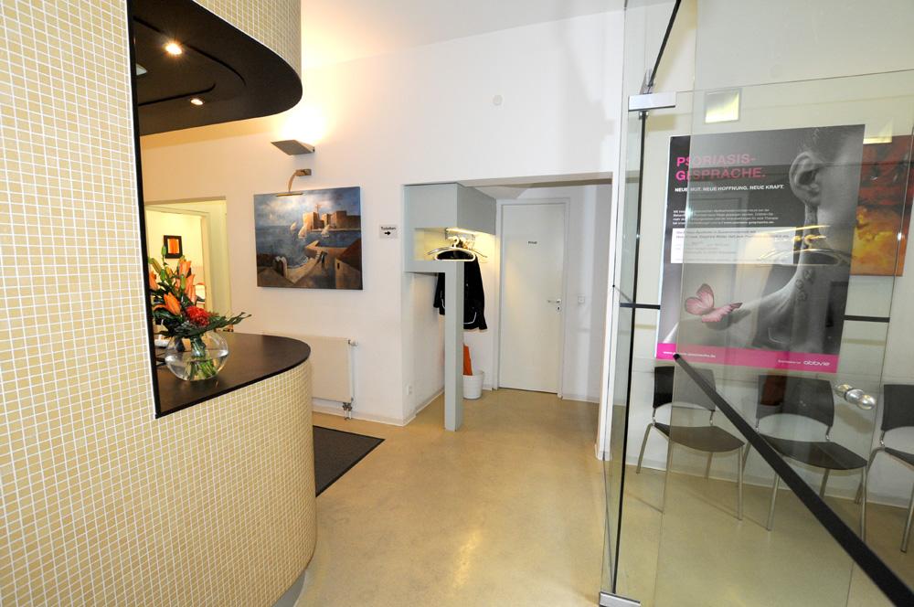 Hautarztpraxis Dermatologie im Zentrum Wiesbaden: Wartebereich